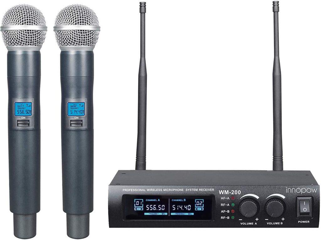 Innopow Metal Dual UHF Wireless Microphone System